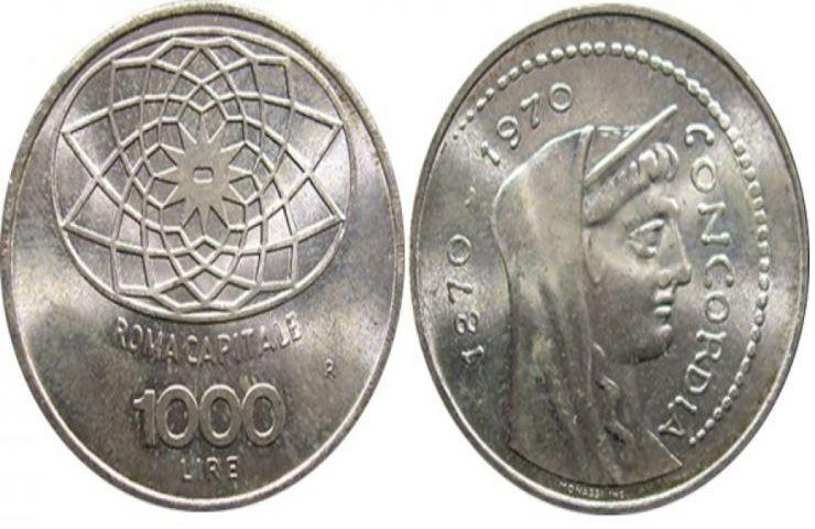 Mille lire Roma Capitale moneta fortuna
